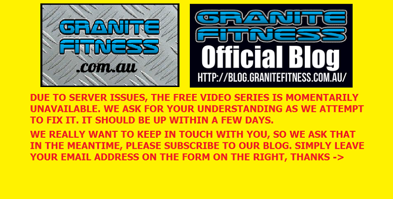 NOTICE: GRANITE FITNESS FREE VIDEO SERIES